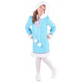 Déguisement esquimau des glaces fille ice blue luxe