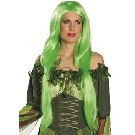 Perruque longue vert fluo femme : Perruques