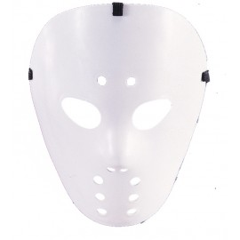 Masque hockey blanc adulte