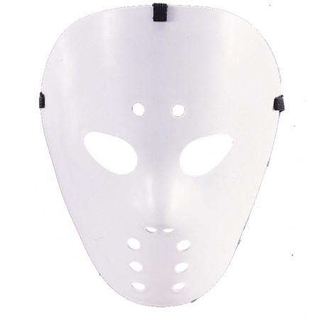 Masque hockey blanc adulte