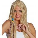 Collier hippie rose avec strass adulte