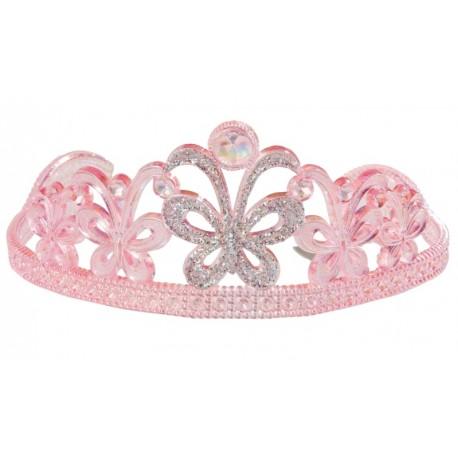 Diadème princesse papillon rose fille