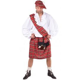 Déguisement écossais rouge homme luxe