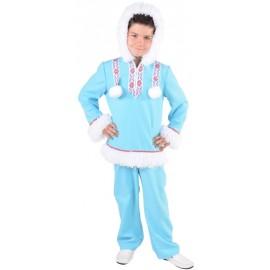 Déguisement esquimau des glaces garçon ice blue luxe