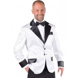 Déguisement veste blanche à paillettes homme luxe