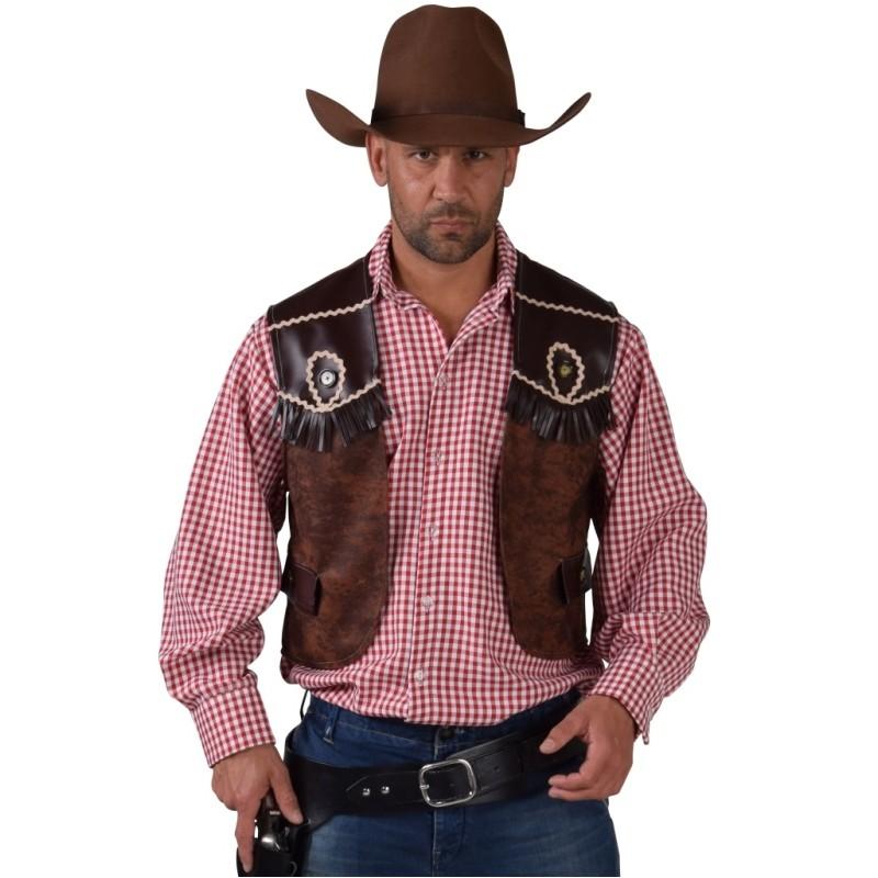 D guisement gilet cowboy homme d guisements cowboy western adulte - Deguisement western homme ...