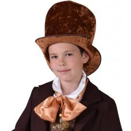 Chapeau haut de forme marron enfant luxe