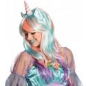 Perruque licorne magique longue femme