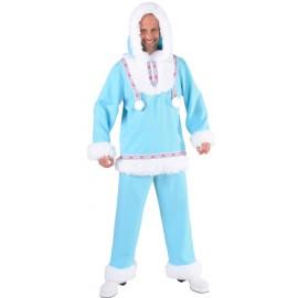 Déguisement esquimau des glaces homme ice blue luxe