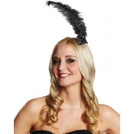 Peigne charleston femme avec plume