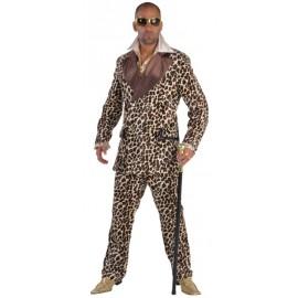 Déguisement costume pimp léopard homme luxe