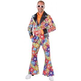 Déguisement costume hippie smile homme luxe