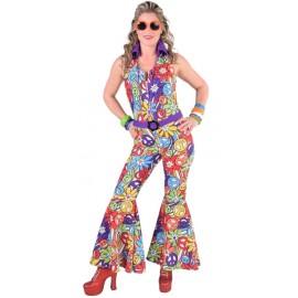 Déguisement hippie smile femme 70's luxe