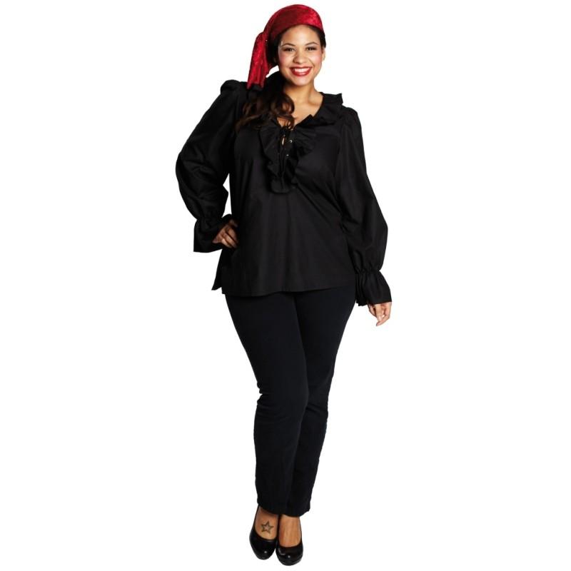 d guisement chemise pirate noire femme grande taille achat. Black Bedroom Furniture Sets. Home Design Ideas