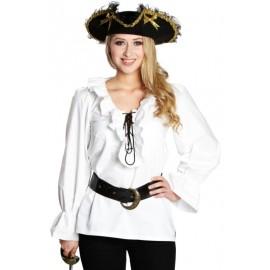 Déguisement chemise pirate blanche femme