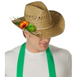 Chapeau de paille jardinier adulte