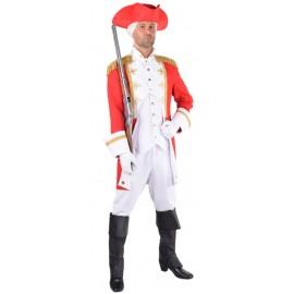 Déguisement officier de la garde rouge homme luxe