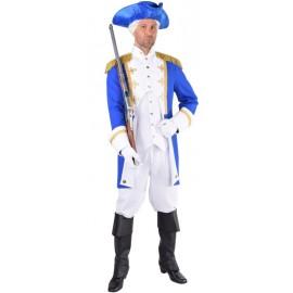 Déguisement officier de la garde bleu cobalt homme luxe