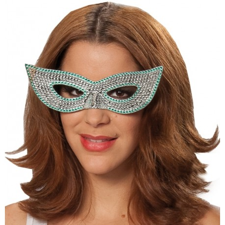 Lunettes loup domino à strass femme