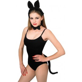 Set chat noir adulte 3 pcs