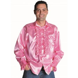 Déguisement chemise disco rose homme luxe