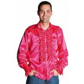 Déguisement chemise disco fuchsia homme luxe