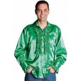 Déguisement chemise disco verte homme luxe