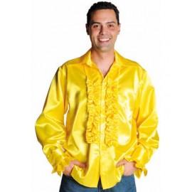 Déguisement chemise disco jaune homme luxe