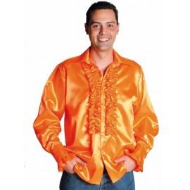 Déguisement chemise disco orange homme luxe