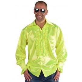 Déguisement chemise disco fluo jaune homme luxe