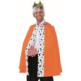 Déguisement cape de roi orange homme luxe