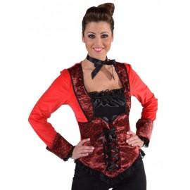 Déguisement Top burlesque fuchsia femme luxe