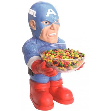 Pot à bonbons Captain America™ Porte bonbons