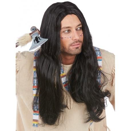 Perruque indien longue homme : achat Perruques