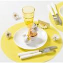 Sets de table ronds jaunes en intissé 34 cm les 50