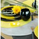 Sets de table ronds gris en intissé 34 cm les 50