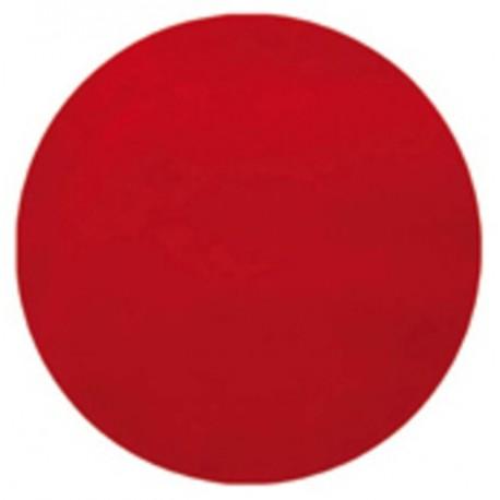 Set de table rond rouge en intissé 34 cm les 50