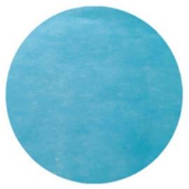 Sets de table ronds turquoise en intissé 34 cm les 50