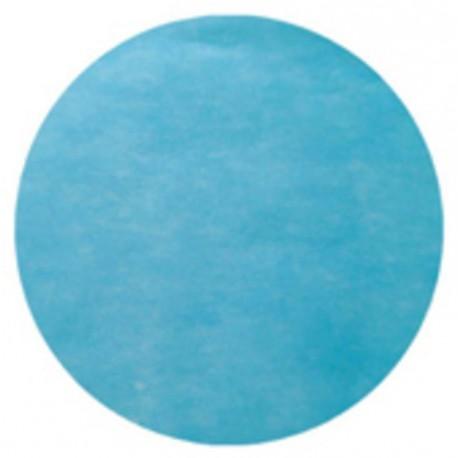 Set de table rond turquoise en intissé 34 cm les 50
