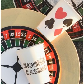 Gobelet carton casino les 10
