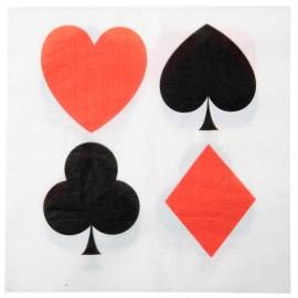 Serviette de table casino papier les 10