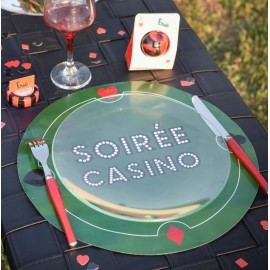 Set de table casino rond 34 cm les 6