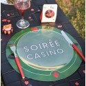 Sets de table casino ronds 34 cm les 6