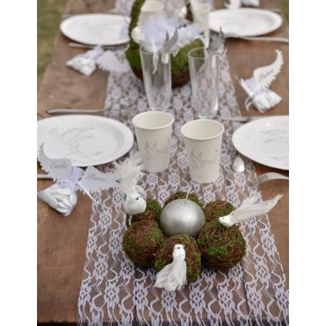Chemin de table dentelle blanche chic   Chemins de table mariage fêtes eb418ebcd2a