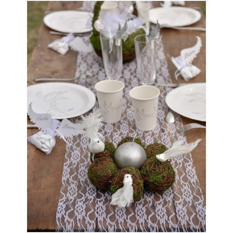 Chemin de table dentelle blanche chic chemins de table - Chemin de table chic ...