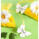 Etiquettes papillon blanc les 10