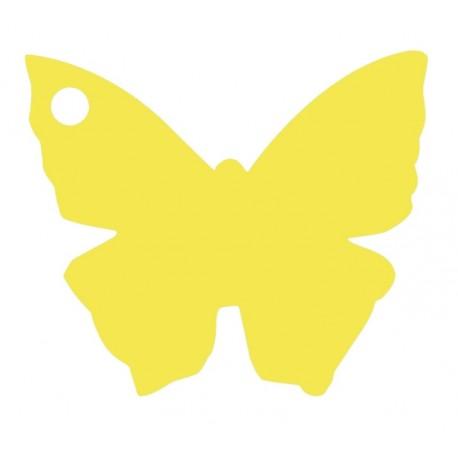 Etiquette papillon jaune les 10