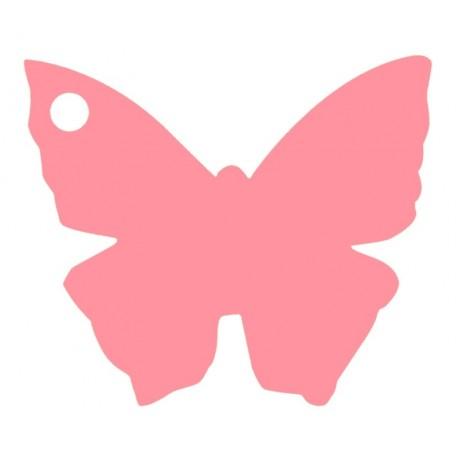 Etiquettes papillon rose les 10