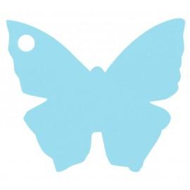 Etiquette papillon bleu ciel les 10