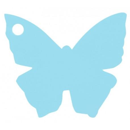 Etiquettes papillon bleu ciel les 10